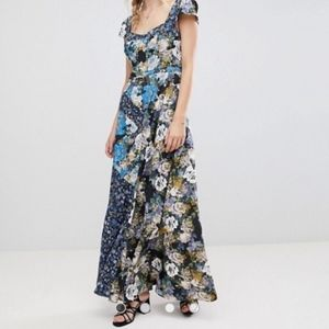 Free People Le Fleur Floral Print Maxi Dress